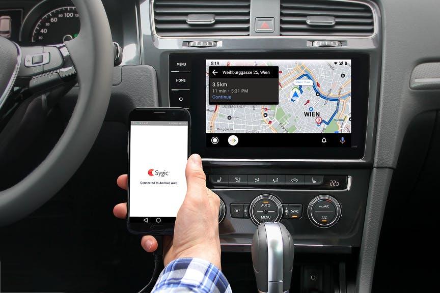 Sygic Navigation für Android Auto mit Offline-Funktionen verfügbar